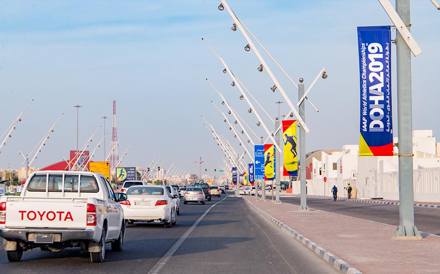 IAAF_Flags_Branding_Qatar